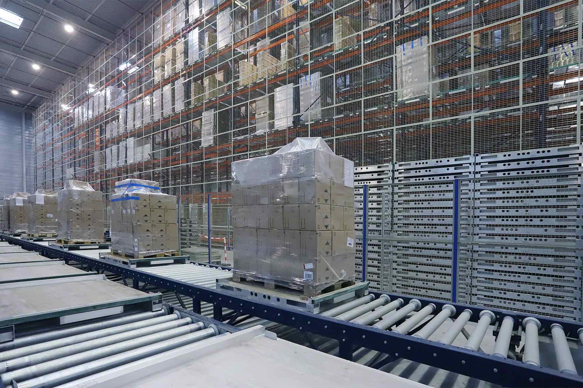 Transportador industrial para bodega logística