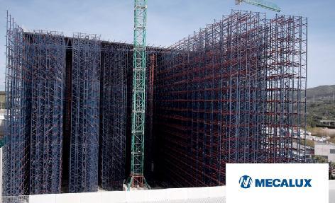 Proceso constructivo de la bodega autoportante automática de Cepsa en Algeciras, Cádiz (España)