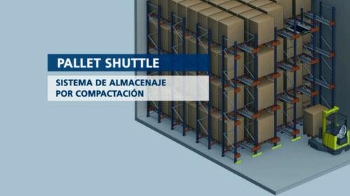 Sistema compacto semiautomático Pallet Shuttle