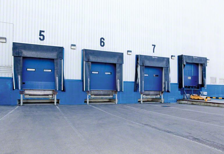 Distribución de los muelles de carga en una bodega.