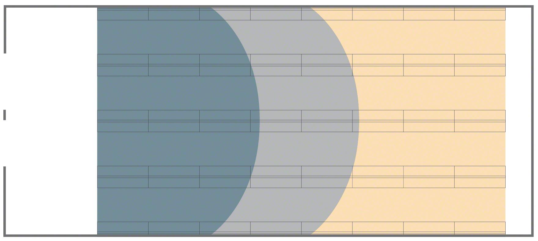 Distribución de productos a lo largo de la bodega en función de su rotación.