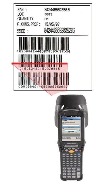 Etiqueta con código de barras EAN-128 en la que se identifica el pallet, el producto que contiene y las características del mismo.