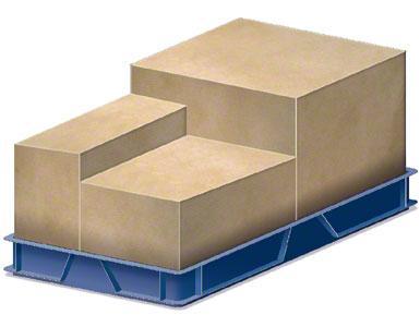 Un contenedor donde van introducidas las cajas de embalaje enviadas por el proveedor.