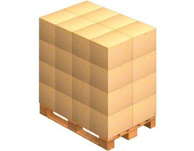Un pallet sobre el que se colocan las cajas de embalaje que envía el proveedor. Este también puede enviar la mercadería ya paletizada (sobre un pallet).
