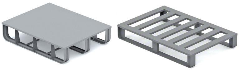 Los pallets metálicos se usan sobre todo en el sector de la automoción y la industria metalúrgica.