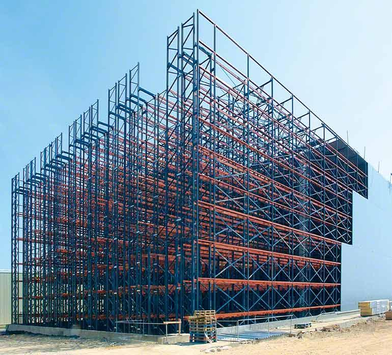 En una autoportante, los racks configuran la estructura del propio edificio.
