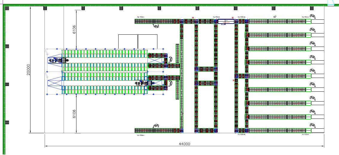 El almacén automático de cajas de NEX Logistics Europe