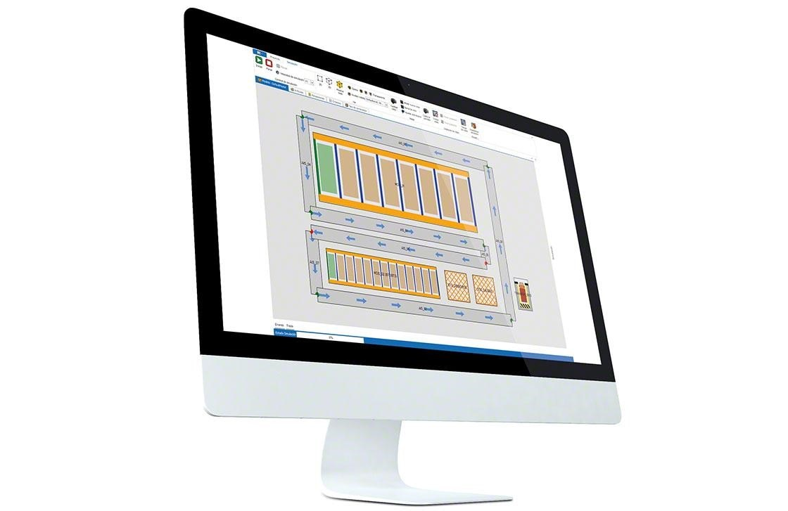 Ordenador en el que se ha instalado el WMS para una correcta gestión, y gracias al que se puede medir los KPI en la bodega.