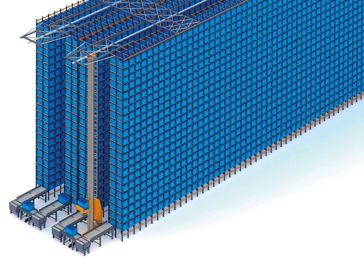 Bodega automática de cajas y racks selectivos de FIC
